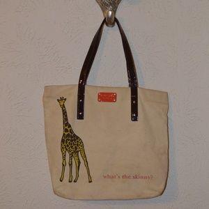 "Kate Spade ""what's the skinny"" Giraffe Tote"